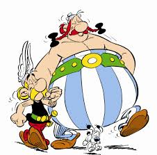 Asterix og Obelix for 35. gang på nye eventyr - denne gang i Skotland. Illustration: Egmont