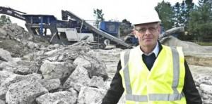 Projektleder Lars Lund, Bascon, repræsenterer Aarhus Kommune som rådigver i forbindelse med nedrivningen af Nordgårdskolen.