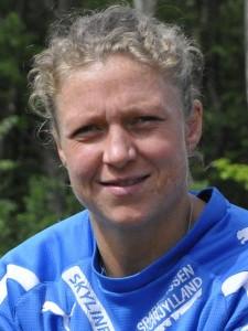 Katrine Fruelund er nu ikke bare tidligere håndboldspiller - nu er hun også højdespringer. Foto: Randersidag
