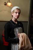 Joanne Froggatt spiller tjenestepigen Anna May Bates - tidligere smith - der er en af de bærende figurer i serien. Foto: DR/ITV