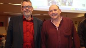 Den nyvalgte kasserer Klaus Poulsen og den nyvalgte formand Finn Andersen. Foto: Metal Østjylland.