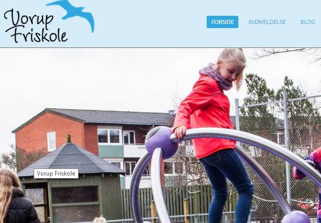 Et udsnit af Vorup Friskoles hjemmeside.